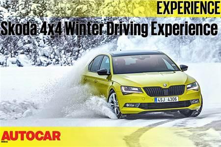 Skoda winter driving experience 2018 video