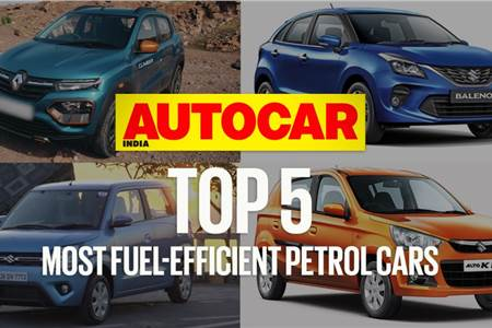 Top 5 most fuel-efficient petrol cars in India video