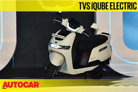 TVS iQUBE scooter walkaround video