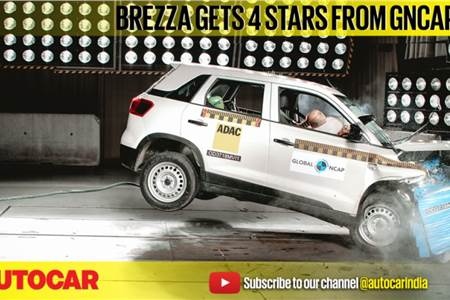 Maruti Suzuki Vitara Brezza, Renault Lodgy GNCAP crash test video