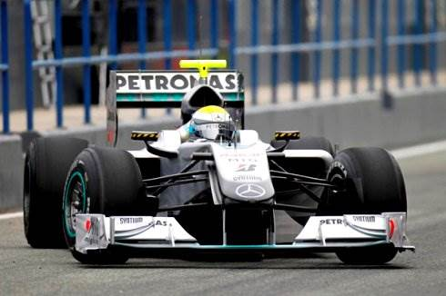 Rosberg tops first day at Jerez