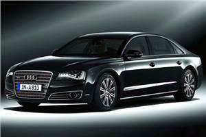 Armoured Audi A8 India bound