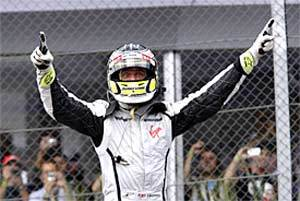Button clinches title, Webber wins