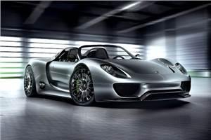Porsche showcases 918 Spyder