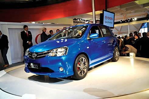 Toyota unveils Etios at 2010 Expo