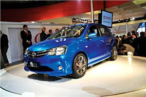 Toyota unveils Etios at 2010 Expo