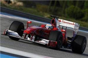 Alonso's first Ferrari test