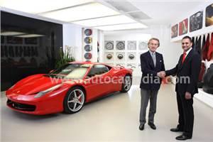 Ferrari enters India with Shreyans