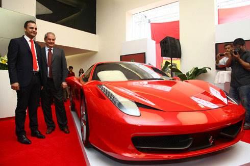 Ferrari officially debuts in India
