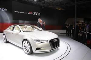 Audi flaunts its A7 at the Expo