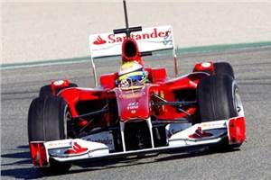 Massa tops the first test of 2010