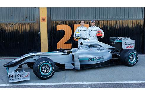W01 is Mercedes GP's 2010 car