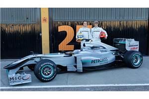 W01 is Mercedes GP's 2010 car