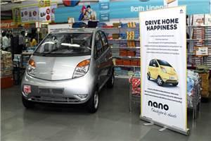 Tata Nano goes public in Big Bazaar