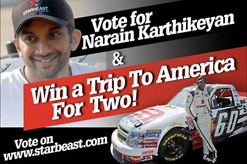 Vote for Narain, win a US trip!