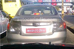 Nissan New Global Saloon spied