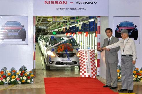 Nissan Sunny production kickstarts