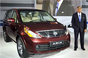 Tata Aria launched at the Expo