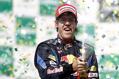 Vettel wins at Interlagos