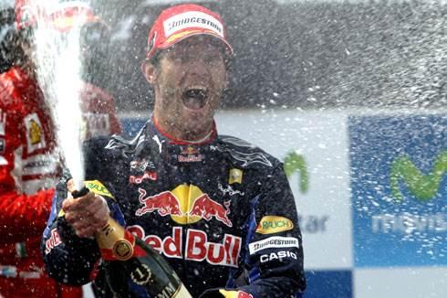 Webber dominates in Spain