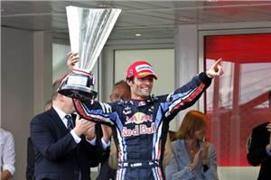 Webber on top in Monaco
