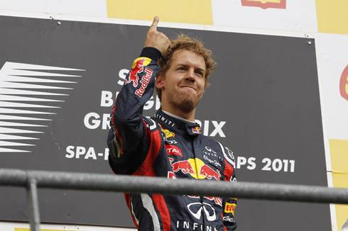 Vettel back on top at Spa