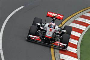 Button tops in 2nd practice