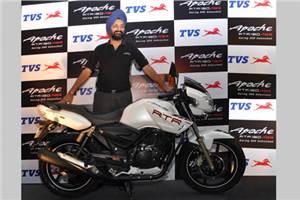 TVS unveils Apache RTR 180 ABS