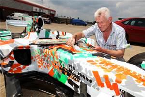 Force India unveils 'Art Car'