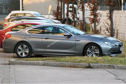 BMW new 6 series coupe spied
