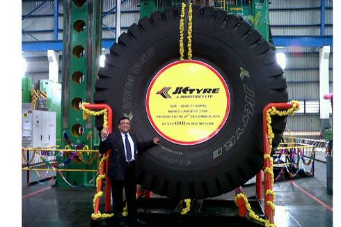 JK rolls out India's biggest tyre