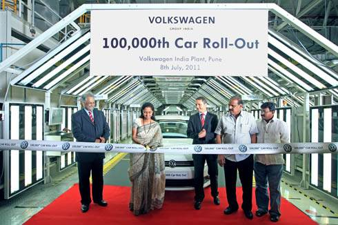 100,000th VW rolls out of Chakan