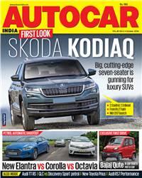 Autocar India Magazine Issue:  Autocar India: October  2016