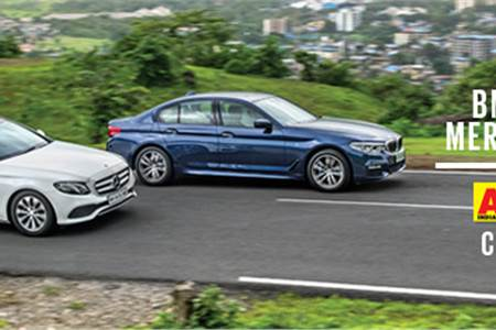 2017 BMW 530d vs Mercedes E350d comparison video
