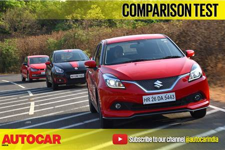 2017 Baleno RS vs Polo GT TSI vs Abarth Punto comparison video