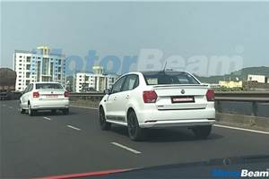 Volkswagen Ameo Sport spied testing outside Pune