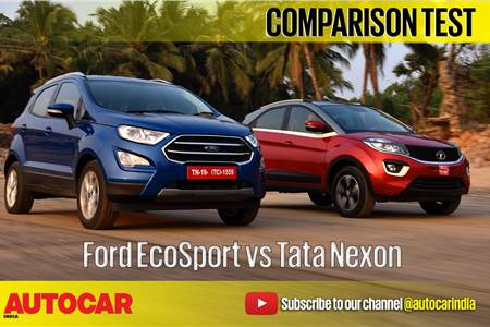 2017 Ford EcoSport vs Tata Nexon comparison video