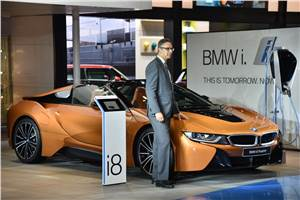 2018 BMW i8 Roadster showcased at Auto Expo
