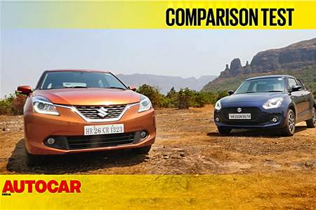 2018 Maruti Swift vs Maruti Baleno comparison video