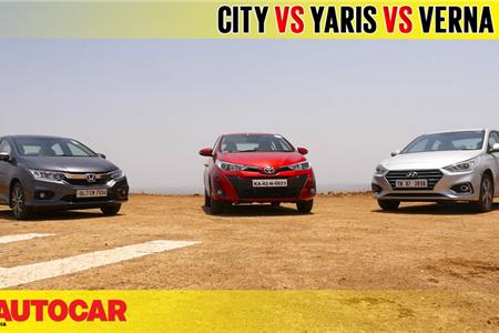 2018 Yaris vs Verna vs City video comparison