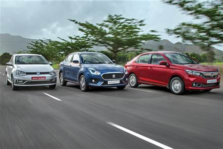 2018 Amaze vs Dzire vs Ameo diesel-automatic comparison