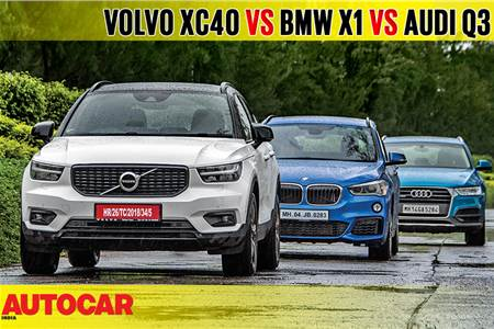 2018 Volvo XC40 vs BMW X1 vs Audi Q3 comparison video
