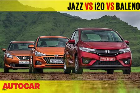 2018 Jazz vs i20 vs Baleno automatic comparison video