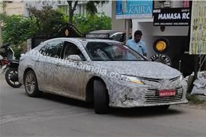 Next-gen Toyota Camry spied in India