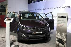 Mahindra Marazzo, Roxor showcased at Detroit