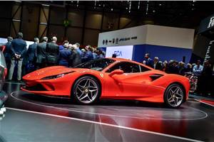 Ferrari F8 Tributo showcased at the 2019 Geneva motor show