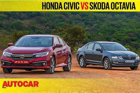 Honda Civic vs Skoda Octavia comparison video