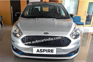 Ford Aspire Titanium Blu reaches dealerships