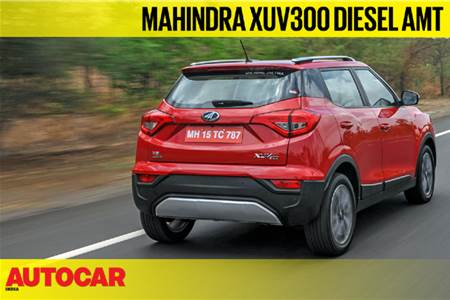 2019 Mahindra XUV300 diesel AMT video review