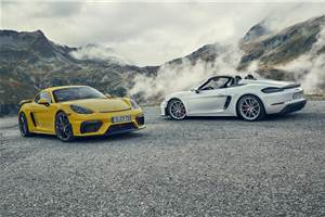 New Porsche 718 Cayman GT4, Boxster Spyder revealed